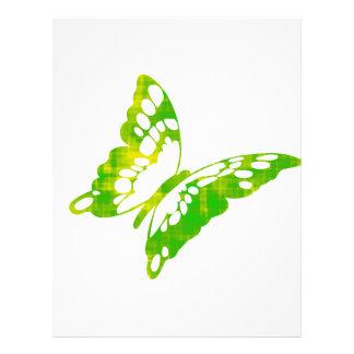 Grön fjäril brevhuvud