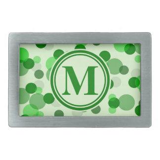 Grön fläckMonogram för anpassade
