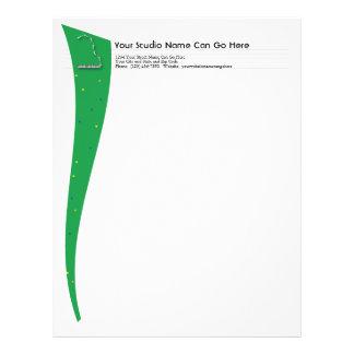 Grön flygelbrevhuvud brevhuvud