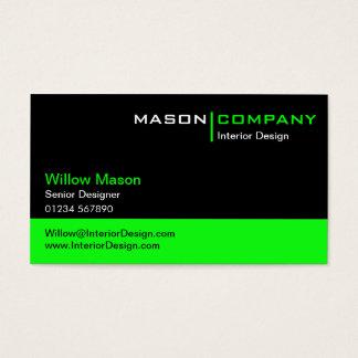 Grön företags visitkort för svart och för
