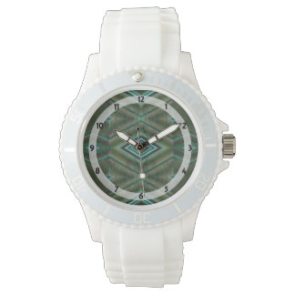 grön formad design för turkos diamant armbandsur