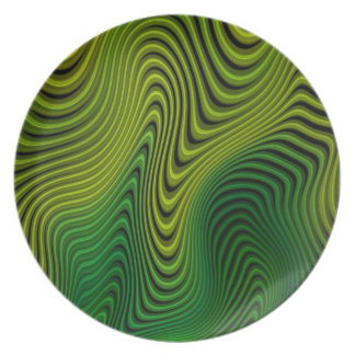 Grön Fractalillusion Tallrik