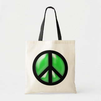 Grön fred budget tygkasse
