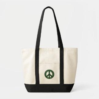 grön fred hänger lös impulse tygkasse