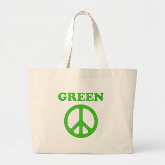 Grön fred (jorddagen) tygkassar