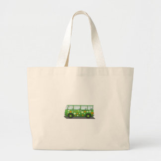 Grön fred- och kärlekskåpbil kassar