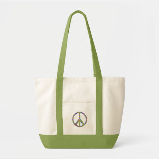 Grön fredkonfettitoto impulse tygkasse