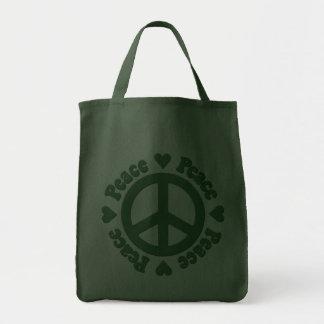 Grön fredstecken kassar