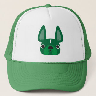 Grön Frenchie hatt Truckerkeps