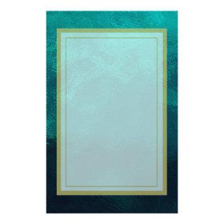 Grön frostad Glass struktur Brevpapper
