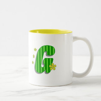 grön G-monogram Två-Tonad Mugg