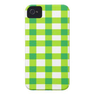 Grön Gingham iPhone 4 Case-Mate Fodraler
