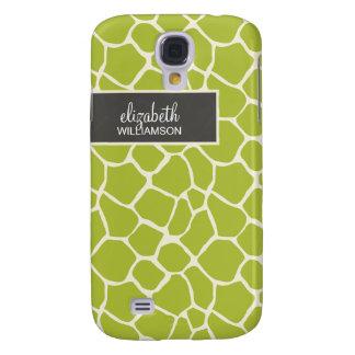 Grön giraff Pern för limefrukt Galaxy S4 Fodral