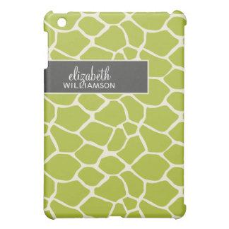Grön giraff Pern för limefrukt iPad Mini Skal