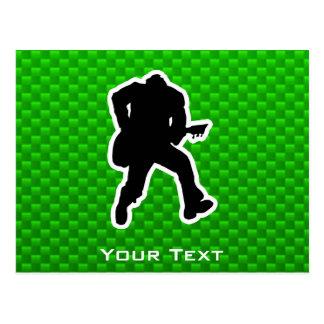 Grön gitarrist vykort