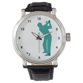 Grön Golf för kricka Armbandsur