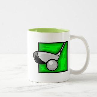 Grön Golf för neon Två-Tonad Mugg