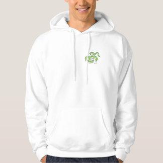 grön grabb sweatshirt med luva
