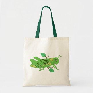 Grön gräshoppa tygkasse