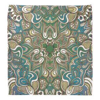 Grön guld- Mandala för blått Scarf