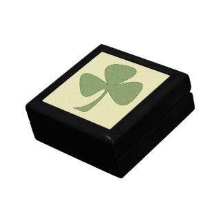 Grön & guld- Shamrock Smyckeskrin