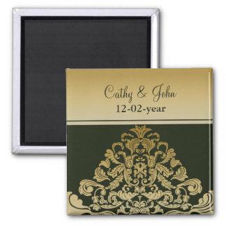 grön guld- spara datum magneter
