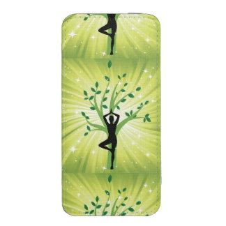 Grön härlig chi för energi för chakra för mobilfodral ficka