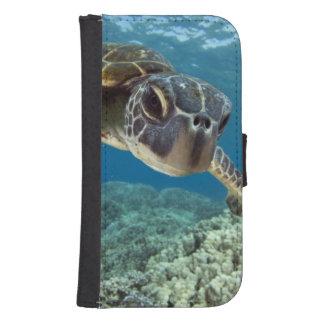 Grön havssköldpadda för hawaiibo galaxy s4 plånboksfodral