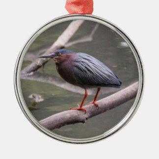 Grön Heron Julgransprydnad Metall