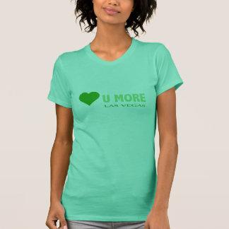 GRÖN HJÄRTAkärlek U MER Las Vegas skjorta Tee Shirt