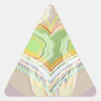 Grön hjärtakrydda Lables Triangelformat Klistermärke