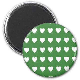 Grön hjärtamagnet magnet rund 5.7 cm