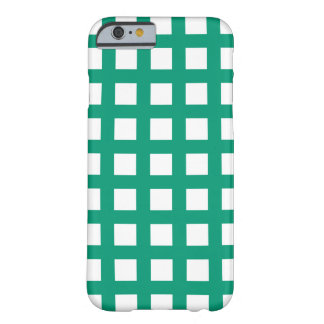 Grön iPhone för smaragd 6 fodral - rasterkontroll Barely There iPhone 6 Fodral