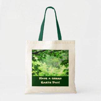 Grön jorddag tygkassar