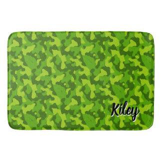 Grön kamouflagemönsterMonogram Badrumsmatta