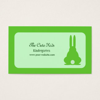 Grön kanin visitkort