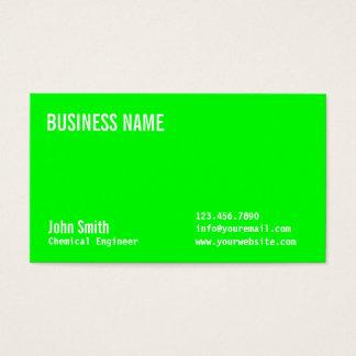 Grön kemisk ingenjörvisitkort för neon visitkort