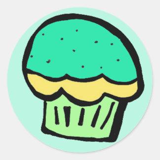 grön klistermärke för muffin