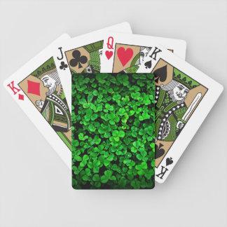 Grön klövershamrockirländare av Irland Spelkort