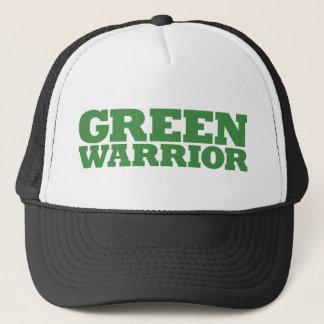 Grön krigare - grönt truckerkeps