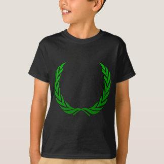 Grön lagrarkran tee shirt