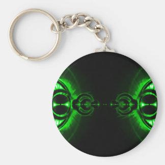 Grön Lens signalljus Rund Nyckelring