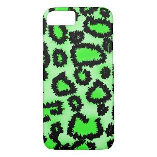 Grön Leopardmodell för svart och för limefrukt