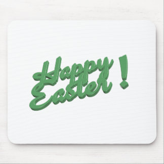 Grön logotyp för glad påsk musmatta