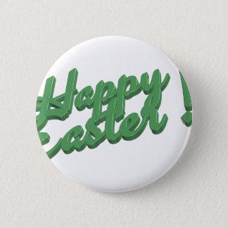 Grön logotyp för glad påsk standard knapp rund 5.7 cm