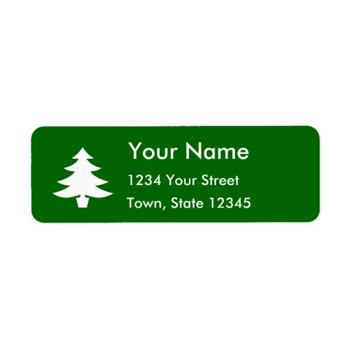 Grön lugn returadress etikett