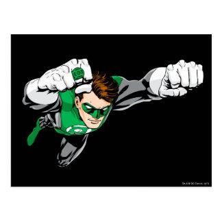 Grön lykta - tecknad som rätt flyger vykort