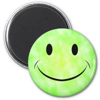 Grön magnet för Tiefärgsmiley face Magnet Rund 5.7 Cm