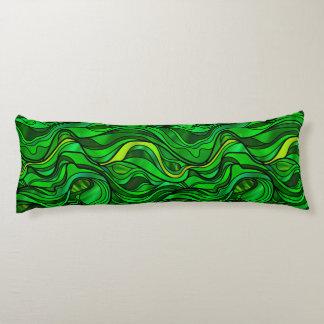 Grön målat glassabstrakt kroppskudde