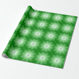 Grön Mandala för MonogramG som slår in papper Presentpapper